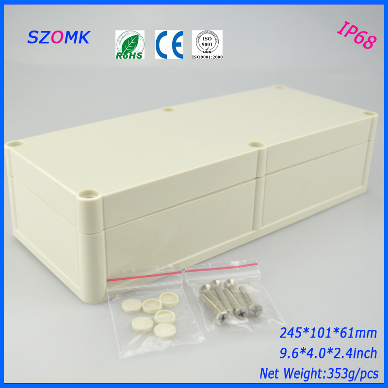 1 piece  free shipping  IP 68 plastic box case for electronic  plastic box diy design 245*101*61 mm 9.6*4*2.4 inch 1 piece free shipping outdoor electrical junction box plastic case for electronic equipment ip 68 box 120x120x55 mm