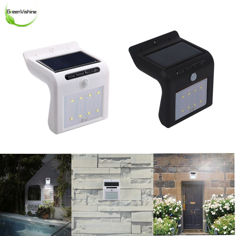 Solar Lights 8leds Waterproof Motion Sensor Outdoor Light Low Power High Brightness Light With Motion Activated Auto On Off