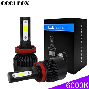 Image 2 - COOLFOX Super Car Headlights Turbo Luces Led H7 9005 9006 hb4 H1 H8 H11 H4 LED Canbus Zenon Bulbs Auto Lamp 12v 72w 36w 8000Lm