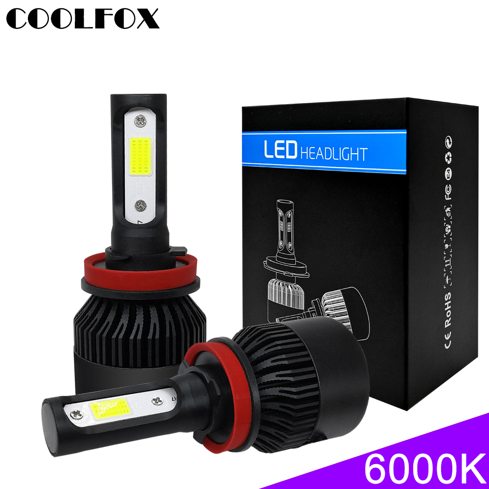 Auto Turbo Luces Voiture 9005 H8 Phares 72 Super 36 H4 Canbus W Led 9006 Coolfox H7 12 Hb4 Zenon Ampoules V 8000lm Lampe H1 H11 oCxeWBrd