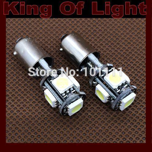 500x Free shipping Car Auto LED 6523 1895 T4W 5smd ba9s 5 leds smd 5050 CANBUS OBC ERROR FREE LED Light Bulb Lamp White