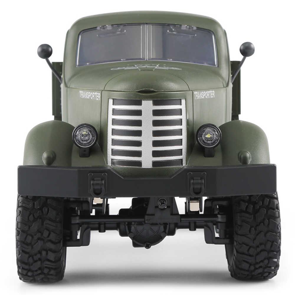 JJRC Q60 6WD RC Off-Road Auto Militaire Truck Geneigd Vliegtuig Differentieel/Schokdempers/Speed Conversie Heldere spots