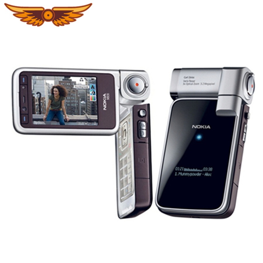 Nokia N93i Original WIFI GSM Refurbished Mobile-Phone-Support Keyboard Unlocked Russian title=