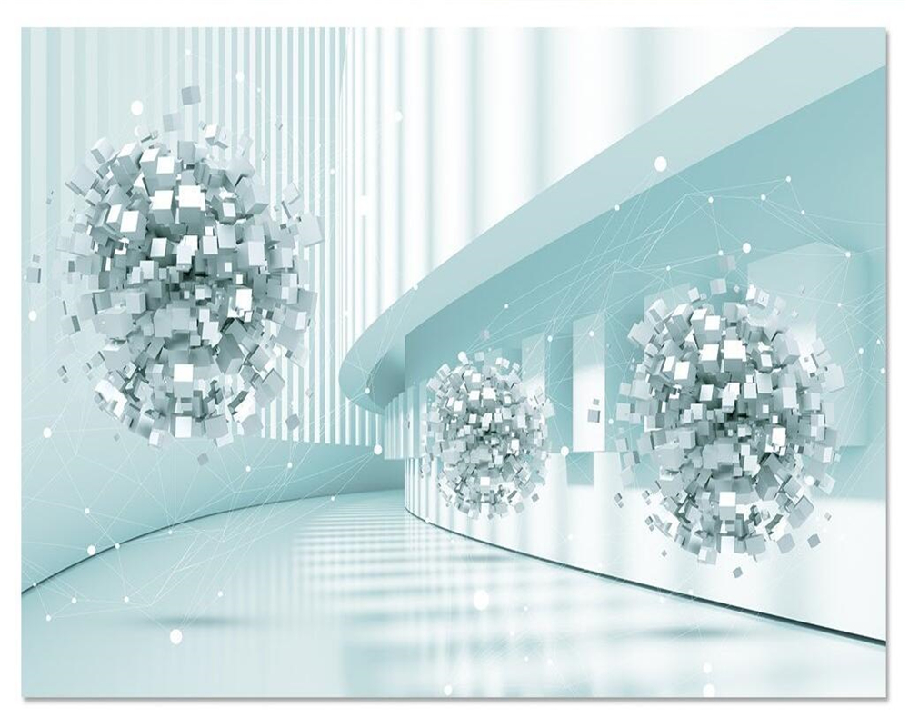 beibehang Custom wallpaper 3d space future technology sense abstract architectural television background wall mural 3d wallpaper