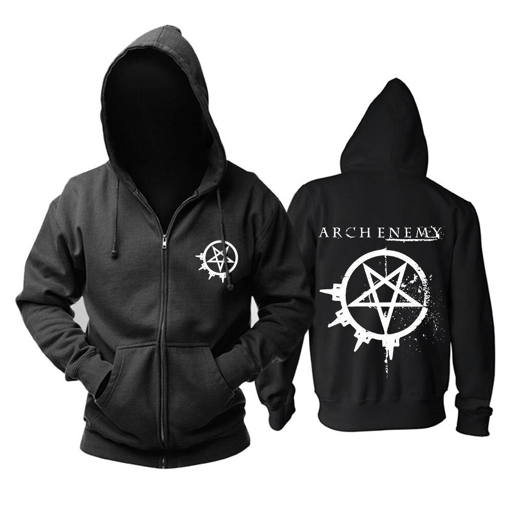 Бесплатная доставка панк смерть темный металл Arch Enemy молния кашемир толстовки Верхняя одежда зимняя куртка Прохладный моды флис