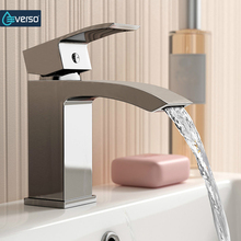 EVERSO Bathroom Sink Faucet Waterfall Bathroom Faucet Basin Faucet Vanity Vessel Mixer Tap Torneira Do Banheiro