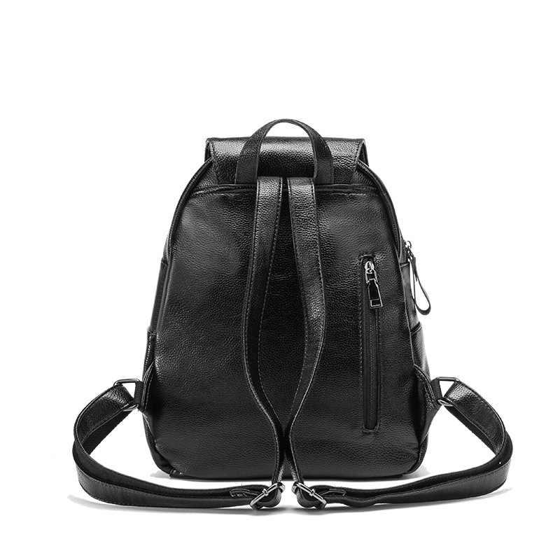 Женский рюкзак из натуральной коровьей кожи, женский рюкзак на молнии, модная женская классическая сумка через плечо, Женская дорожная сумка, новинка, лидер продаж, C677