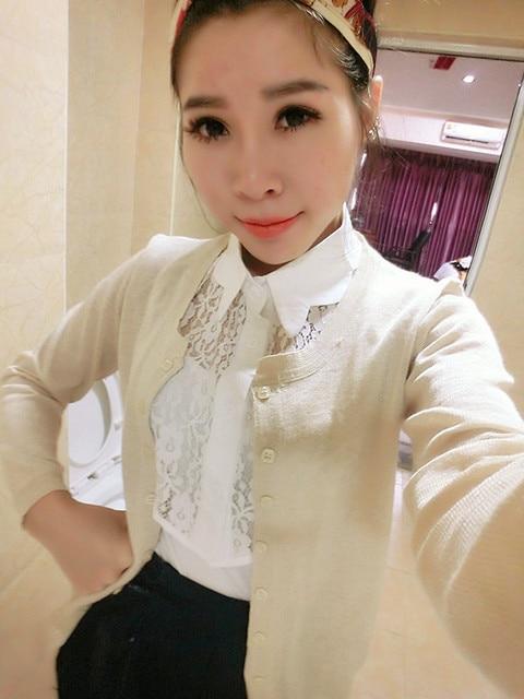 witte blouse met kanten kraag