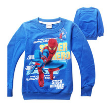 The new spring and summer 2016 children clothes boy spider man - Terry Cotton Sweater T-Shirt child baby
