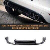 Real da Fibra do Carbono Do Carro Rear Bumper Lip Difusor para VW Scirocco Padrão Apenas 10 13 Não R Amortecedor Do Carro spoiler Difusor Traseiro|diffuser bumper|diffuser reardiffuser carbon -