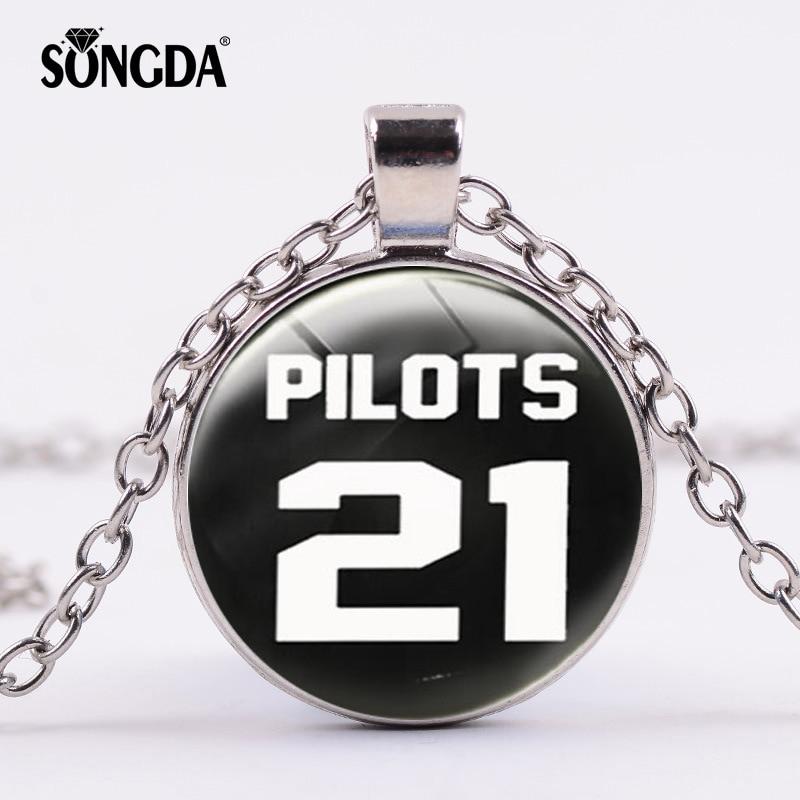 Songda Twenty One Pilots Necklace Steampunk Rock Music Band 21