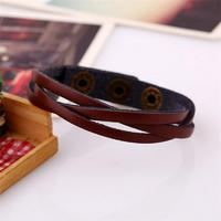 Новые кожаные Обёрточная бумага плетеный манжеты панк Для мужчин Для женщин браслет на запястье Hand-made браслет Популярные ювелирные аксессуары Браслеты