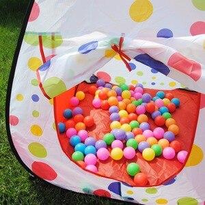 Image 3 - 3PCs Tent House Ocean Ball Crawling Tunnel Set Ocean Ball Pool Tent House Outdoor Indoor Toy Tent Ocean Ball Pool House