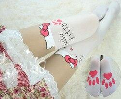 أميرة الحلو لوليتا جوارب طويلة المتناثرة لينة عمو لوليتا برشاقة الأبيض القط خليط الإفراط في الركبة تظاهر عالية جوارب KT001