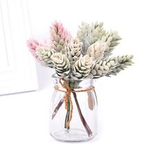 DIY Plant Artificial Pinecones Pineal Flowers Ornament Fairy Garden House Home Landscape Christmas Decoration Gift