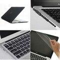4на1 черный матовый прорезиненные твердый чехол ( 11 цветов ) + клавиатура + пленка + разъем для Apple Macbook Air 13 '' дюймовый бесплатная доставка