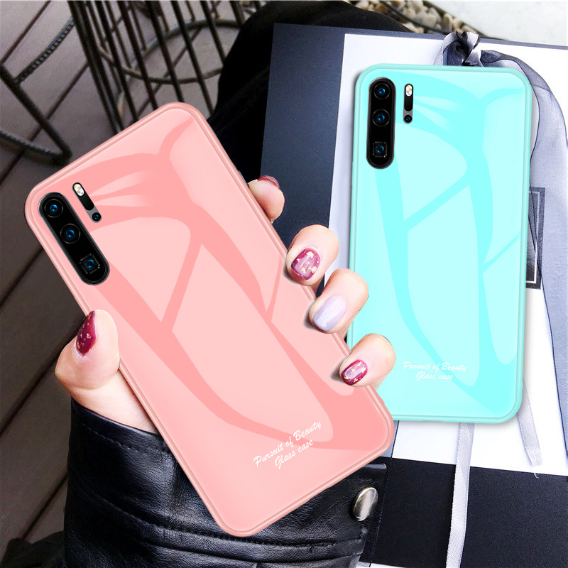 Candy Color Tempered Glass Case For Huawei Honor 10i 20i 8X 8C P20 Pro P30 Lite P Smart 2019 Y7 Y9 Mate 20 Lite Nova 3i 4 Cover