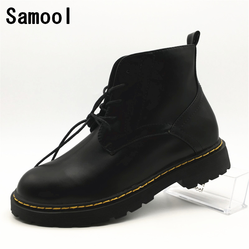 New Arrival winter wedding shoes Low Heel Short Boots Women Martin Boots Fashion Genuine Leather Ankle Boots casual shoes xxz5 winter boots women ankle boots for women genuine leather boots chelsea boots fashion short low heel shoes woman hot sale