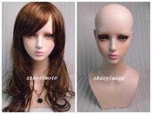 High quality Fiberglass Realistic female mannequin dummy head bust for  mask&hat & sunglass jewelry&wigs display