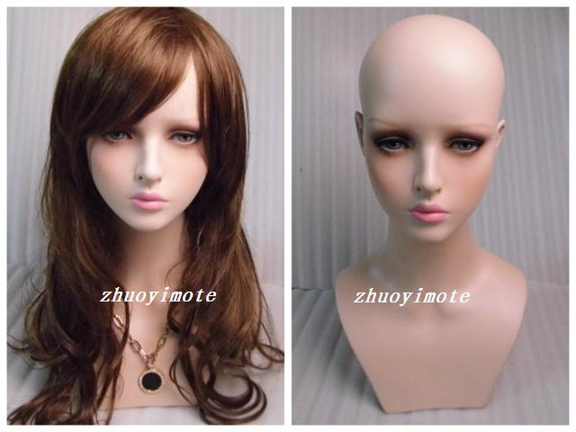 Mannequin femme réaliste en fibre de verre de haute qualité tête factice buste tête de mannequin tête de perruque