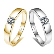 Rings Solitaire Wedding-Band 925-Sterling-Silver Choucong Jewelry Promise-Ring Cz-Stone