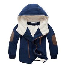 Dzieci płaszcz 2017 jesień zima Boys kurtka dla chłopców dzieci Odzież z kapturem kurtki dziecięce chłopiec ubrania 4 5 6 7 8 9 10 11 12 rok tanie tanio Odzież wierzchnia i Płaszcze Z KEAIYOUHUO Patchwork Hooded Unisex Oxford Pełne Poliester bawełna Wagi ciężkiej E869