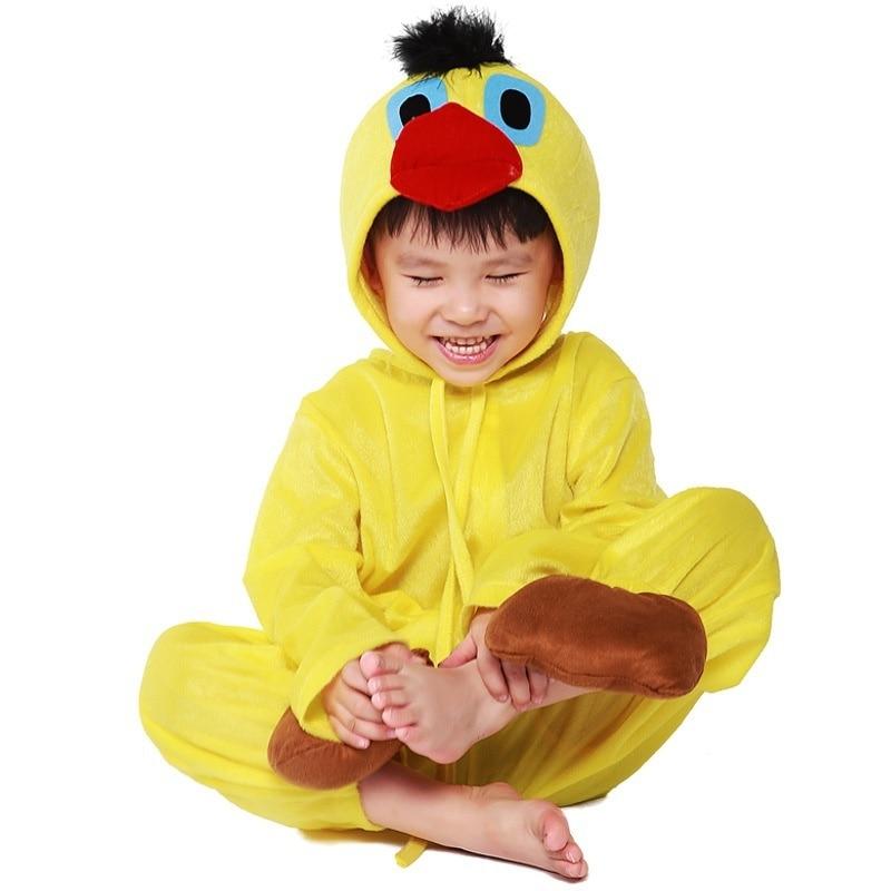 Hot Unisex Kids Child Toddlers Duck Pajamas Halloween Kigurumi Fancy Dress Costume Animal Onesie Sleepwear Suit