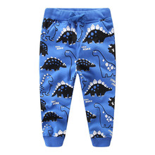Boys Pants Baby New Cartoon Cotton with Applique Cute Dinosaur Printed Spring Autumn Pant for