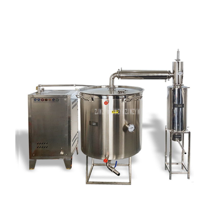 400L Double Cooler Large Wine Brewing Equipment With Steam Generator Liquor Distillation Commercial Wine Making Machine 2
