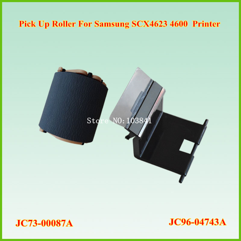 JC96-04743A JC97-03439A Separation pad + JC73-00087A JC93-00087A Pickup Roller  for Samsung SCX4623 4600 Printers spare Parts high quality pickup roller and separation pad compatible for hp5000 5100