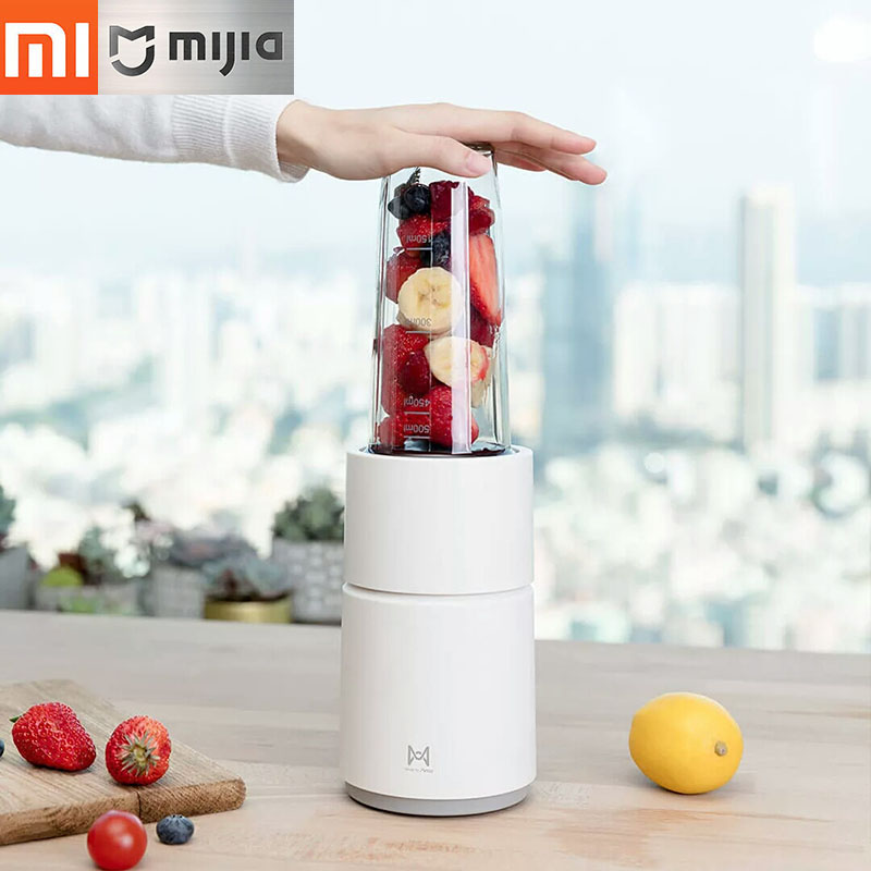 Xiaomi Juicer Fruit And Vegetable Cooking Machine Portable Liquidizer, 1seconds Out Juice Quickly Crushed Ice Easy To Cleaning xiaomi ocooker portable juicer baby fruit and vegetable cooking machine low noise cooling system dustproof design diy drinks