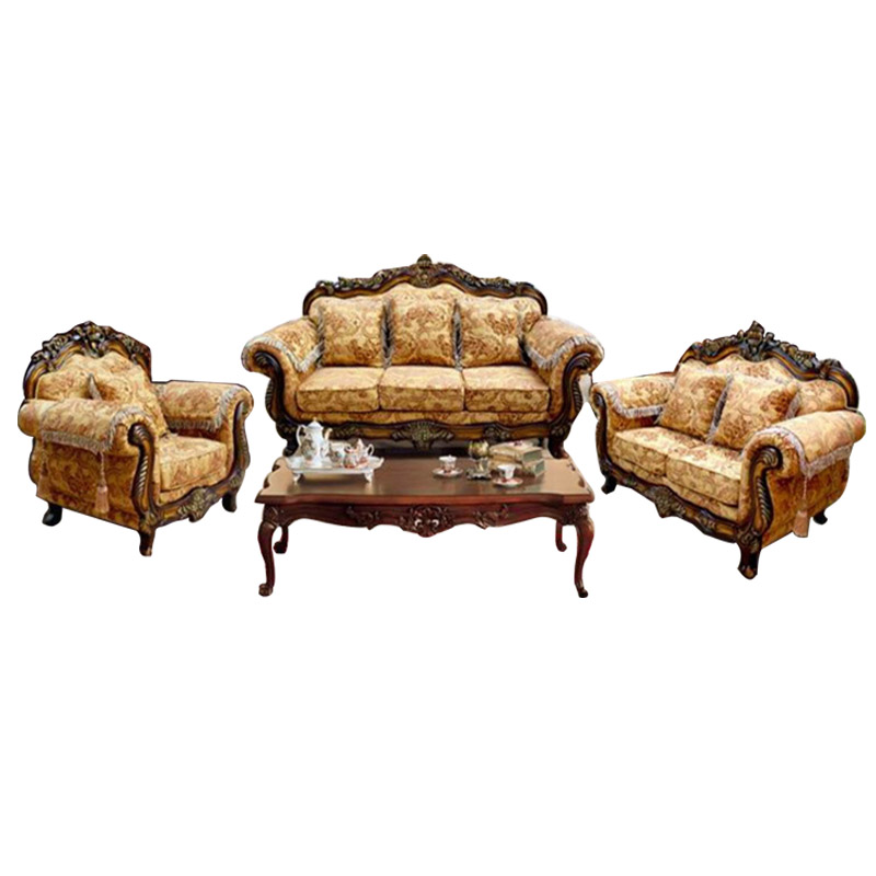 Continental Wood Sofa Size Apartment Living Room Sofa 1