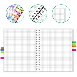 Image 4 - NeWYeS A4 Wet Erasable Reusable Smart Writing Notebook Black Waterproof Paper Auto Scan Customized Gift Wire Bound Spiral Notes