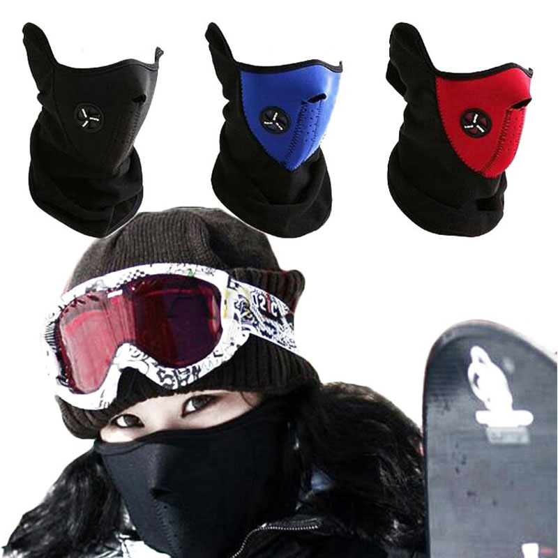 New 3 Colors Bike Motorcycle Ski Snowboard Neck Warmer Face Mask Veil Cover Sport Snow Outdoor Windproof Protective Masks