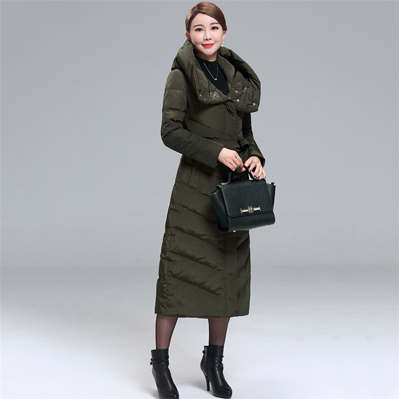 Hot Winter Down Jacket Female Slim Warm parkas 2018 New Fashion Large size Duck Down Jackets Long Women Outerwear Coats NO567