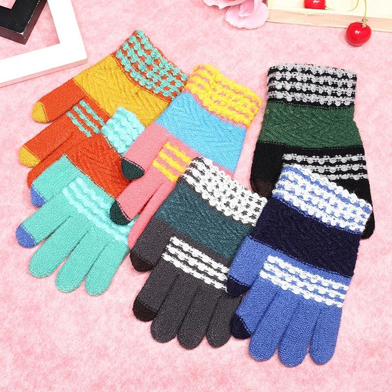 Kraftvoll Für Kinder Kinder Jungen Sknitting Winter Warme Handschuhe Stilvolle Streifen Handschuhe Fs0477 Rheuma Und ErkäLtung Lindern