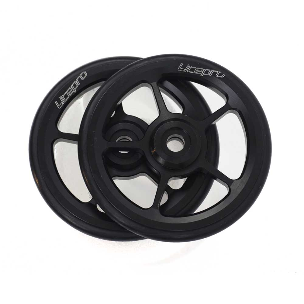 Litepro roues faciles Easywheel & boulons en titane pour Brompton 57gLitepro roues faciles Easywheel & boulons en titane pour Brompton 57g