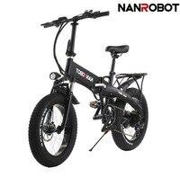 NANROBOT N4 взрослых легкий складной электрический велосипед с 500 Вт двигатель 20