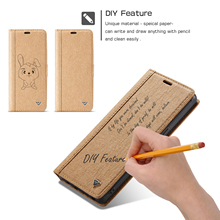 HAISSKY Note 8 DIY Kraft Paper Waterproof Cover For Samsung S7 S7Edge Card Slots  For Samsung Galaxy S8 S8Plus Phone Capa