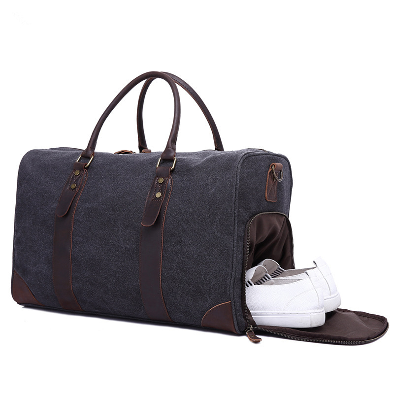 2018 Vintage Waxed Canvas Men Travel Duffel Large Capacity Waterproof Travel Bags Carry on Weekender Military Luggage Bags augur new canvas leather carry on luggage bags men travel bags men travel tote large capacity weekend bag overnight duffel bags