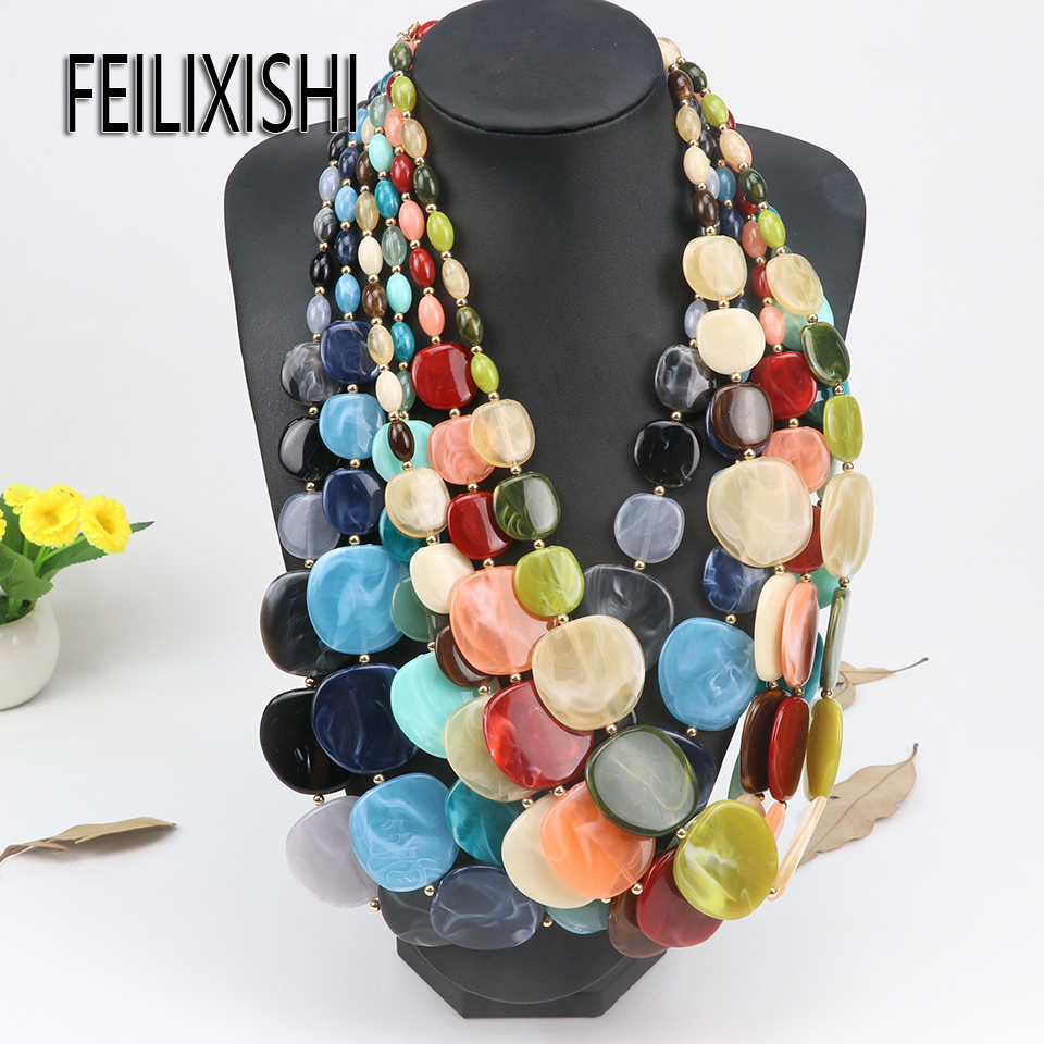 2018 New Bohemia Necklace Trendy Necklaces For Women Chains Necklaces Long Beaded Bohemia Necklace for Girls Gifts Sweater chain