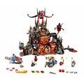1244 PCS Lepin NEXO Jestro CAVALEIROS do Covil do Vulcão Building Blocks Brinquedos Minifigures Compatível com LEGO 70323