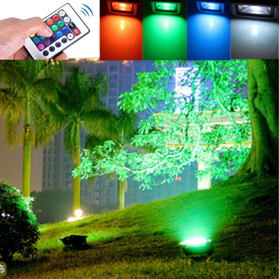 Free Shipping 2pcs Lot Rgb Led Floodlight Outdoor Lighting 10w 12v Waterproof Garden Colored Light In Floodlights From Lights