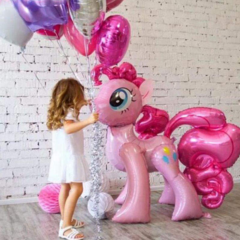 1 Pc 100*97 Cm Rosa Little Horse Folie Luftballons Helium Ballon Kinder Spielzeug Hochzeit Geburtstag Tier Einhorn Party Decor Liefert