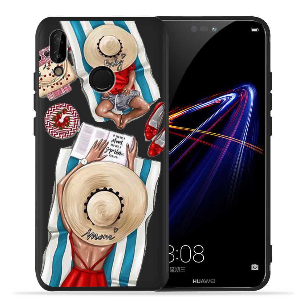 Super Mom Baby Mama Mouse Girl Case for Huawei P20 Lite P30 Huawei P30 Lite P8Lite P9Lite 2017 P Smart Family Etui