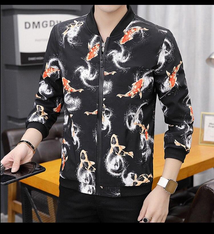 HTB1K5yiXyLrK1Rjy1zdq6ynnpXat Printing Fashion 2019 Brand Mens Bomber Jacket Thin Men Baseball Jackets Casual Jacket Coat Overcoat For Male Clothing