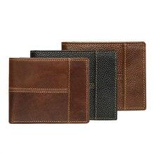 2019 Genuine Cow Leather Men Wallet Vintage Business Purse Cowhide Coin Pocket Photo Card Holder Multi-functional Wallet Men недорго, оригинальная цена