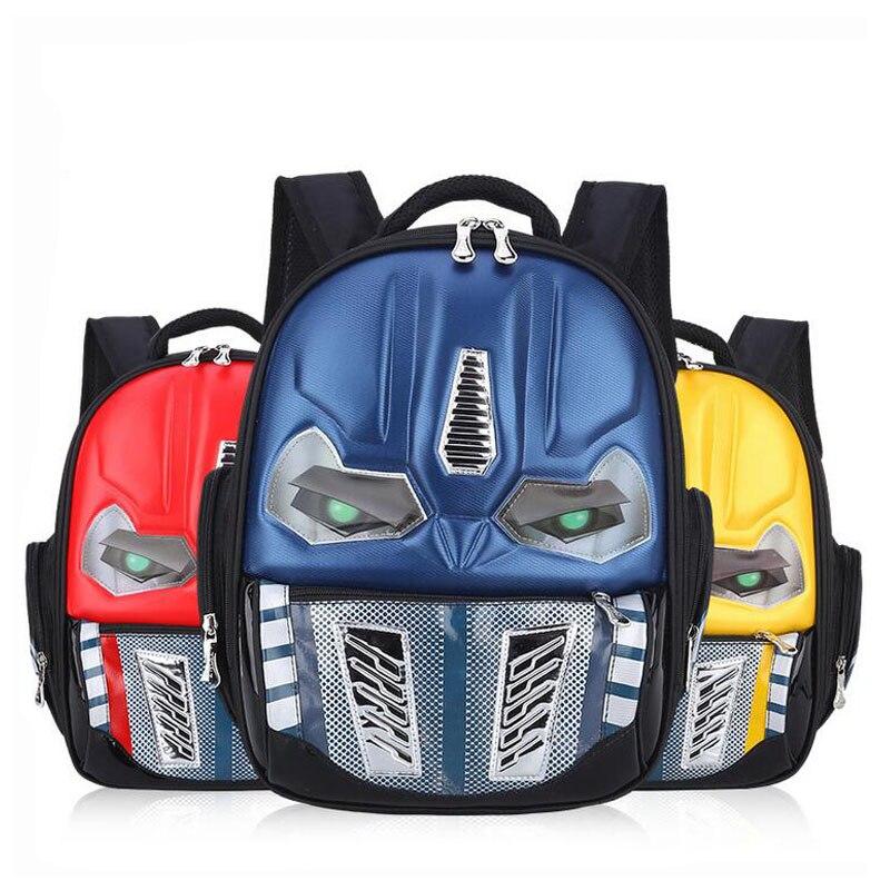 317cf36f0908 Waterproof 3D Cartoon Robot School Bags for Boys Cool Children Backpacks  Kids Schoolbag Mochilas Escolar Infantil-in School Bags from Luggage   Bags  on ...