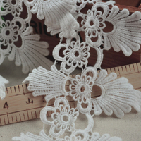 Free Shipping 4Yards (1Yards=91cm), 4.33inch Small Royal Court Flower Embroidered Cotton Lace Trims Z521
