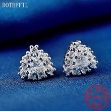 925 Sterling Silver Earrings Woman Simple Luxury Zircon 100% Silver Earrings Fashion Charm Jewelry new arrivals 925 sterling silver stud earrings women simple charm inlaid aaa zircon jewelry 100% silver feminine earrings